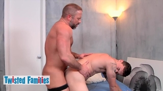 TwistedFamilies - Hunk Daddy Dirk Caber Helps his Sexy Stepson Trevor Spade in Bed