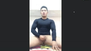 Chinese Muscle Man in Tight