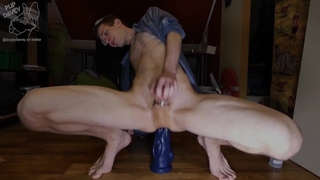 Teen Shows off his new Favorite Dildo