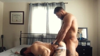 Muscular Tattoo Hunk Fucks his Roommate Raw