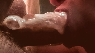 Intense SELF SUCK from an Unusual Sexy Angle! / ORAL CREAMPIE