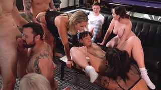 10 Person Bisexual Wild ORGY in Vegas!