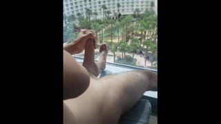 Snuck up on Hung Teen BF Jacking off in Hotel