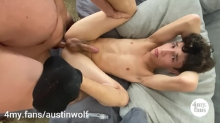 Fuckin my new little Twink Nico, Begs for Daddys Cock 4my.fans/austinwolf