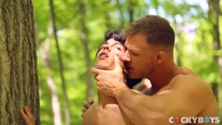 My CockBoys Scene with Nico Leon Twink Latin Btm sub Cruising Woods Public