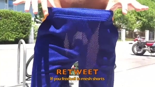 I Love Freeballing in Mesh Shorts...that I have Cut the Liner out Of!