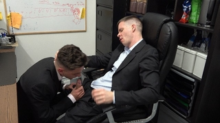 Hot Suited up Office Boy Fucked HARD n Left Spunky