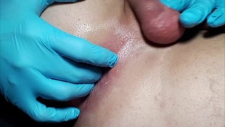 Anal Shave-Smooth Ball Play-Gloved Finger Fuck