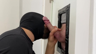 Pumping a ginger monster cock
