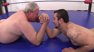 Old vs Young Wrestling