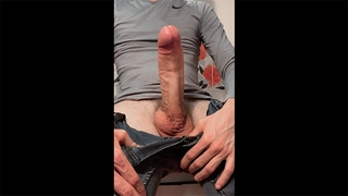 The Guy Gets the MONSTER COCK and Starts Jerking off