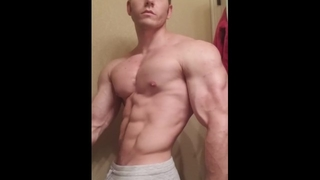 Sexy Muscle Flexing Muscles Worship