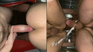 23cm Monster Cock Gets Full Ass Filled with Cum! the Cum Flows out of the Ass.