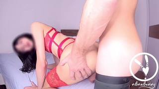 Horny as Hell, Guy fuck and fingering her hole till she Cum