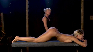 A severe caning and a sensual blonde-- Casting