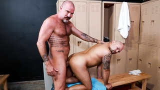 MenOver30 - Jack Dyer Welcomes new Gym Goer with his Raw, Pierced Cock