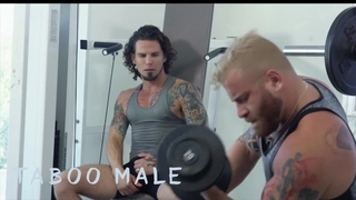 Taboomale - Hot Tattooed Jock Archer Croft had a Crazy Moment with Riley Mitchel at Gym