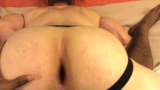 18 WHITE BUBBLE BUTT JOCK TAKES 3 BIG BLACK DICKS! up his Muscled HOLE