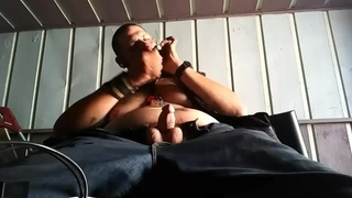 Smoking and Playing with my Cock