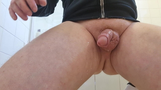 oiling my cute cock and ass