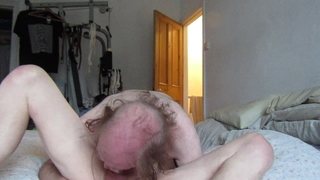 2 bi guys in 69, cocksucking, throating and spunk at the end