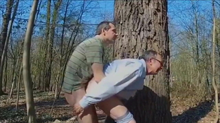 DADDY FUCKING GRANDPA IN THE WOODS 3