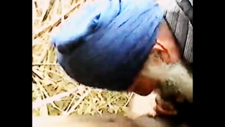 Mature Indian Grandpa With beard sucks and then gets fucked