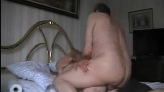 80yo fag grandpa being fucked by his mature master