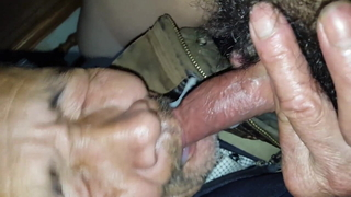 Asian Gummy Grandpa Gnaws On Cock For Nut