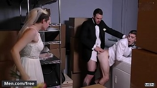 Men.com - (Cliff Jensen, Damien Kyle) - Runaway Groom - Str8 to Gay - Trailer preview