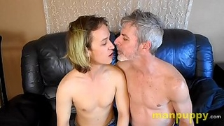 Gay 19-year-old Twink & 50yo Daddy Kissing and Tongue Worship - Zeke Wolf - Richard Lennox - Manpuppy