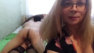 Girlfriend films how a Caucasian fucks me in anal