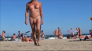 nude shemale with anal rosebud on the beach