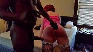 Me, Ms. Ann Thropy, taking a huge black cock up my sissy ass