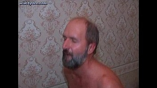 Old dude licks asshole and fucking anally