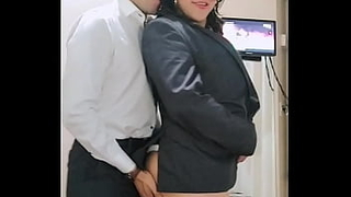 Transroxy receives the very hot Executive who comes from work direct to eat her ass and give her his milk, not without first swallowing the tranny's milk