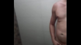 I caught My gifted brother jacking off in the bathroom