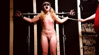This tranny slut Madeline is helpless as she gets hard punishment from her master