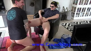 Amazing sex with a bisex boy JOHNY CARETA fucking a TRANSBOY by surprise for CRUNCHBOY