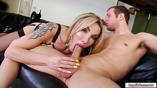 Busty hot Tbabe barebacked by huge dick