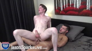 JasonSparksLive - Cute, Hairless Ginger Twink Gets Fucked by Hung Top