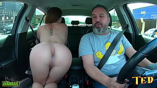 Sthefanny Sayury the transsexual beginner gets in the ride and filmed for the first time