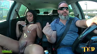 Isabella Fontineli a beautiful young transsexual gets naked in the ride