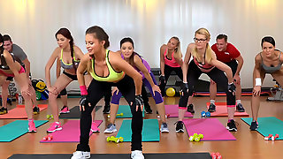 Yoga girls get creampied after worlout