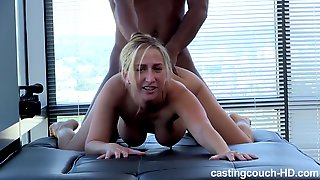 Busty amateur newbie Tammi loving a big black dick
