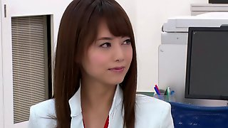 Cute Japanese office girl fucks just about everyone