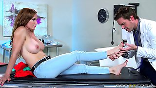 Horny patient with big tits needs a good dicking to feel better