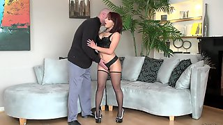 Zesty redhead wench Liv Aguilera gets nailed by Will Powers