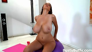 Meet Busty Buffy and her big naturals
