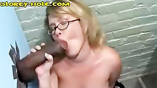 Worshipping Black Cock At GloryHole